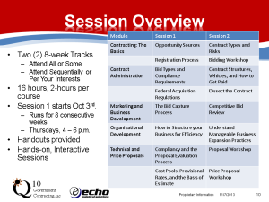 Govt Contracting-series overview Sept 12 2013 SR