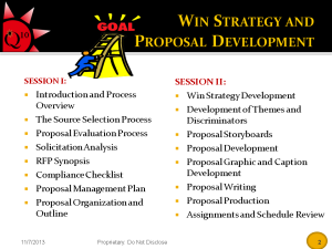 Win Strategy Prop Development Training Session - Sept 29 2008 - Q10 Contracting LLC