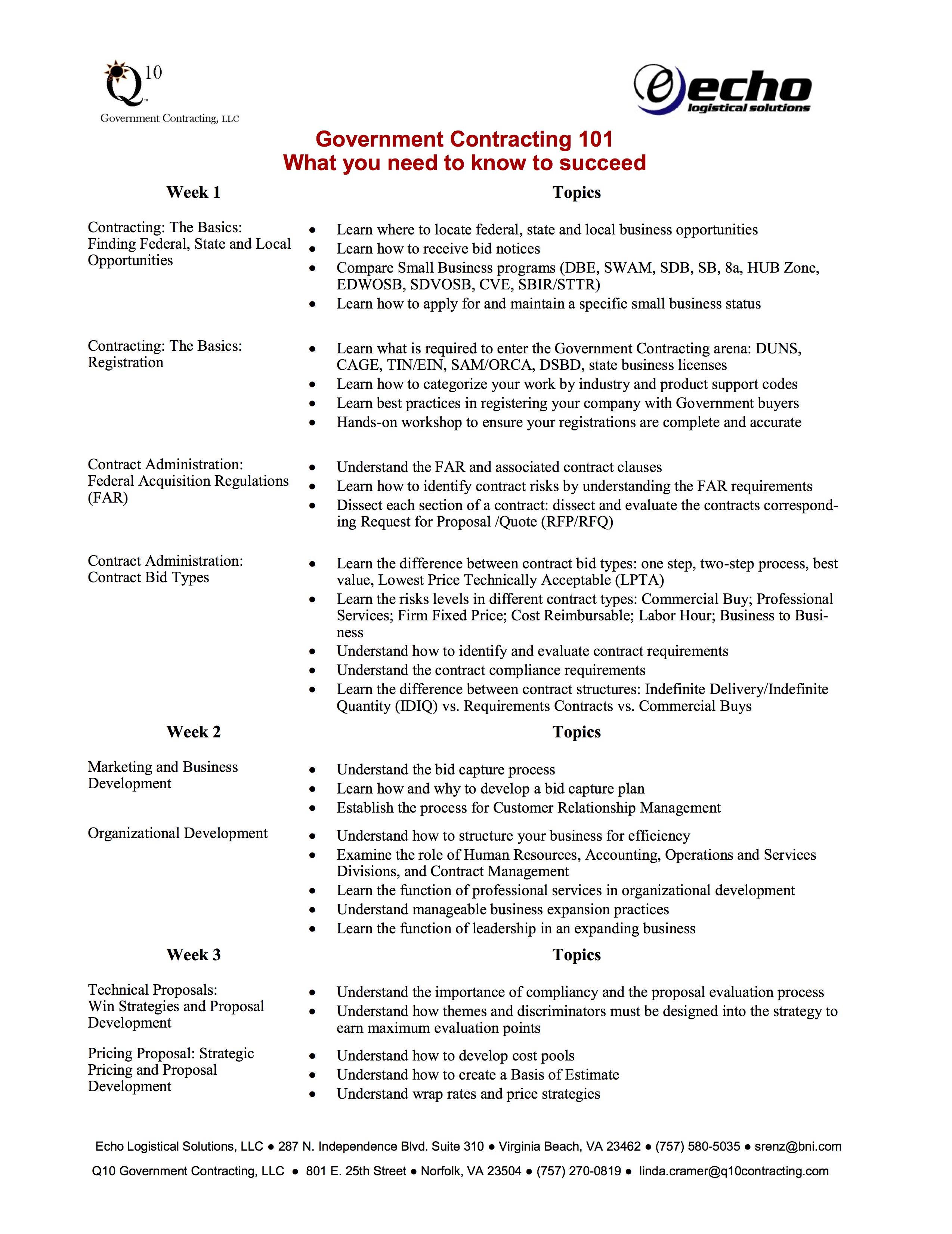 Government Contracting 101 Q10 Government Contracting